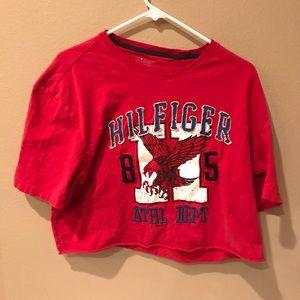 Tommy Hilfiger T-Shirt Cut Off Women's XX-L RED
